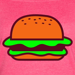 Fuchsia hamburger alone with sesame seeds Dads favourite! Tanks - Women's Vintage Sport T-Shirt