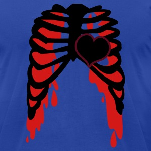 Moss rib cage with love heart metal shirt Tanks - Men's T-Shirt by American Apparel
