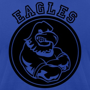 Royal blue Eagles Sports Mascot Hoodies - Men's T-Shirt by American Apparel