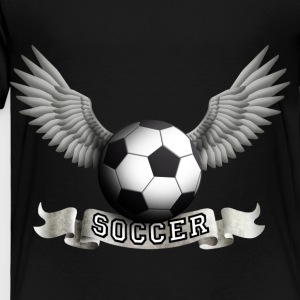 Black soccer_wings_a Kids' Shirts - Toddler Premium T-Shirt
