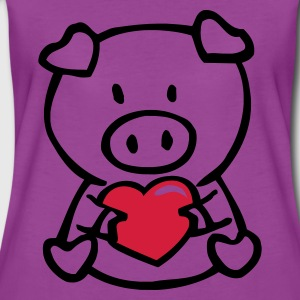 Light pink oink with heart Baby Body - Women's Premium T-Shirt