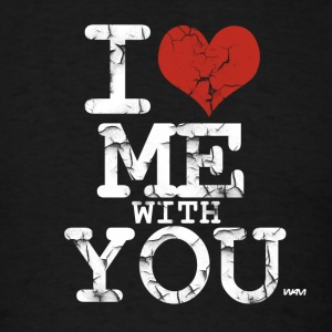 Black i love me with you white by wam Long Sleeve Shirts - Men's T-Shirt
