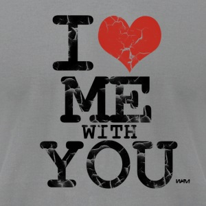 Gray i love me with you by wam Long Sleeve Shirts - Men's T-Shirt by American Apparel