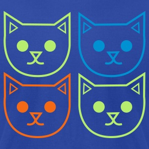 Brown four cats outlines very cute! Tanks - Men's T-Shirt by American Apparel