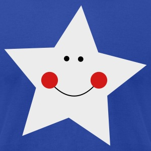 Brown smiley star with cute face Tanks - Men's T-Shirt by American Apparel