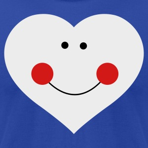 Brown smiley heart with cute face Tanks - Men's T-Shirt by American Apparel