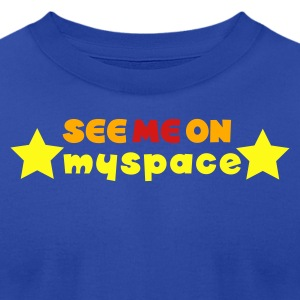 Brown see me on myspace Tanks - Men's T-Shirt by American Apparel