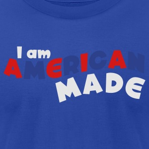 Brown I am American Made Tanks - Men's T-Shirt by American Apparel