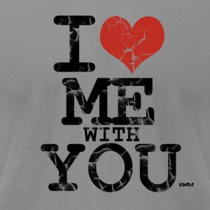 i love me with you by wam T-shirts (manches longues) - T-shirt pour hommes American Apparel
