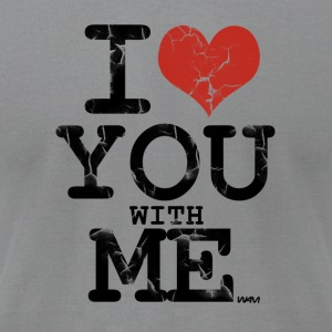 i love you with me by wam T-shirts (manches longues) - T-shirt pour hommes American Apparel