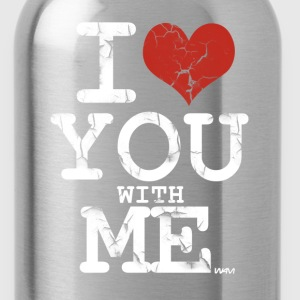 Black i love you with me white by wam Women's T-Shirts - Water Bottle