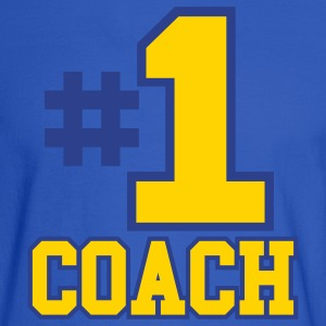 Royal blue Number One Coach Two Color Design Hoodies - Men's Long Sleeve T-Shirt
