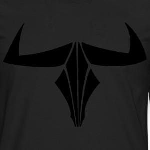 Minotaur Skull Horns 1c - Men's Premium Long Sleeve T-Shirt
