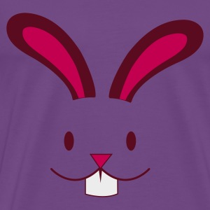 Light pink EASTER rabbit cute face with teeth ! Hoodies - Men's Premium T-Shirt