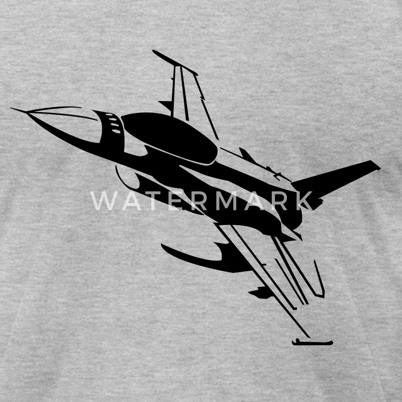 Heather grey F16 T-Shirts - Men's T-Shirt by American Apparel