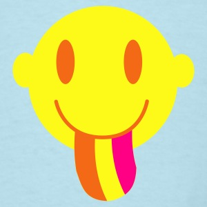 Sky blue Smiley with a rainbow tongue Baby Body - Men's T-Shirt