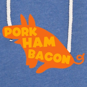 Sky blue pork ham bacon pig all one magical animal Baby Body - Unisex Lightweight Terry Hoodie