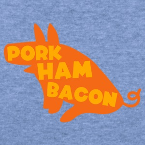 Sky blue pork ham bacon pig all one magical animal Baby Body - Women's Wideneck Sweatshirt
