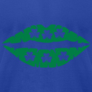 Moss Shamrocks - Kiss Tanks - Men's T-Shirt by American Apparel