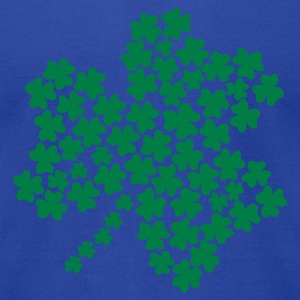 Moss Shamrock Tanks - Men's T-Shirt by American Apparel