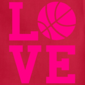 Love Basketball Girls T-Shirt - Adjustable Apron