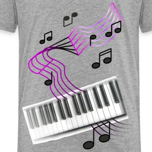 Heather grey keyboardumsic2 Sweatshirts - Toddler Premium T-Shirt