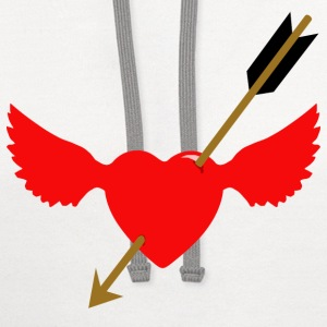 cupid at work 2 - Contrast Hoodie