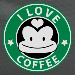Teal i love coffee monkey face starbucks parody cute Women's T-Shirts - Computer Backpack