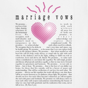 Marriage VOWS - T-Shirt - Adjustable Apron