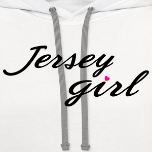 White jersey girl heart Women's T-Shirts - Contrast Hoodie