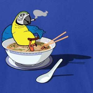 What the Pho Parrot - Men's T-Shirt by American Apparel