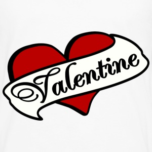 White Valentine Tatoo Red Heart With Banner--DIGITAL DIRECT PRINT Women's T-Shirts - Men's Premium Long Sleeve T-Shirt