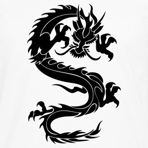 Tribal Japanese Dragon 1c - Men's Premium Long Sleeve T-Shirt
