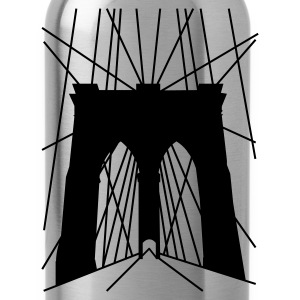 Navy Brooklyn_Bridge T-Shirts - Water Bottle