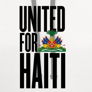 White united for haiti - all author rights will be sent  Kids' Shirts - Contrast Hoodie