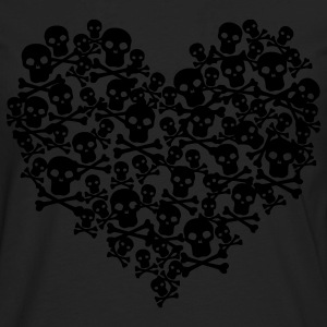 Pink Skull Heart - Men's Premium Long Sleeve T-Shirt