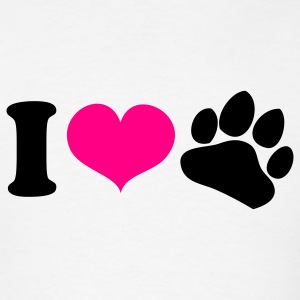 White i heart love paws dog lover Tanks - Men's T-Shirt