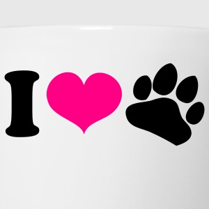 White i heart love paws dog lover Tanks - Coffee/Tea Mug