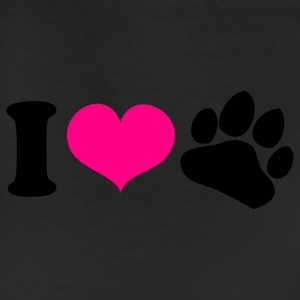 White i heart love paws dog lover Tanks - Leggings
