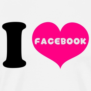 White i heart love facebook Tanks - Men's Premium T-Shirt