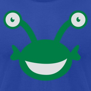 Moss kids alien with googly eyes Tanks - Men's T-Shirt by American Apparel