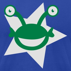 Moss kids alien with googly eyes on a star Tanks - Men's T-Shirt by American Apparel