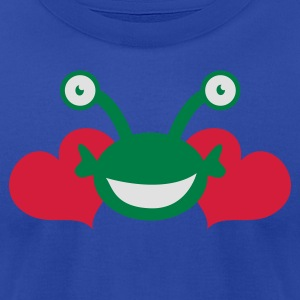 Moss alien love googly eyes Tanks - Men's T-Shirt by American Apparel