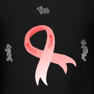 Black join the fight Breast Cancer Ribbon Hoodies - Men's T-Shirt