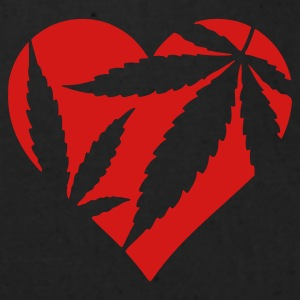 Heather grey Marijuana Heart / Cannabis Love Women's T-Shirts - Eco-Friendly Cotton Tote