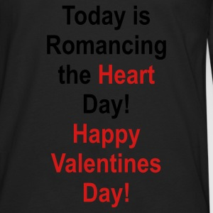 Black romancing_the_heart_day Bags  - Men's Premium Long Sleeve T-Shirt