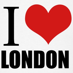 White i love london Buttons - Men's T-Shirt