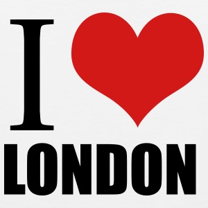 White i love london Buttons - Men's Premium Tank