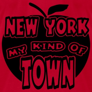Red New York, My Kind Of Town With Apple, 1 Color Sweatshirts - Men's T-Shirt by American Apparel