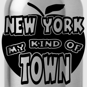 Heather grey New York, My Kind Of Town With Apple, 1 Color Sweatshirts - Water Bottle